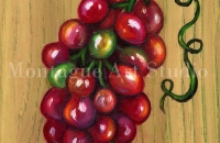 Grapes on Wood